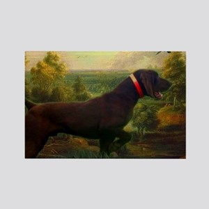 vintage hunting pointer dog Magnets