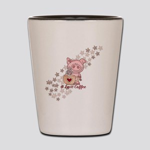 Piglet Loves Coffee Shot Glass