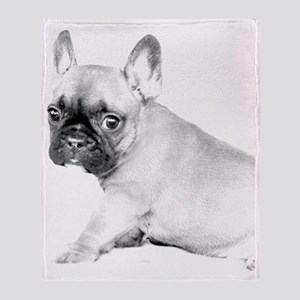 French Bulldog puppy Throw Blanket