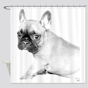 French Bulldog puppy Shower Curtain