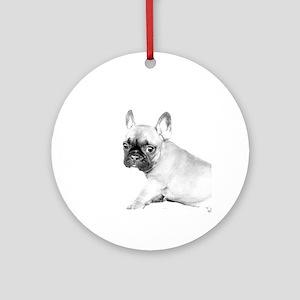 French Bulldog puppy Round Ornament