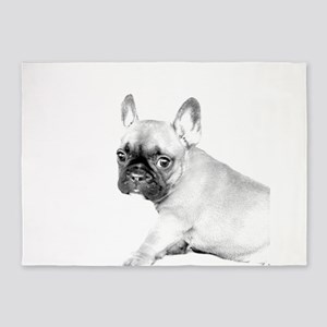 French Bulldog puppy 5'x7'Area Rug