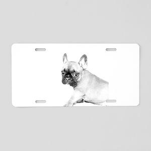 French Bulldog puppy Aluminum License Plate
