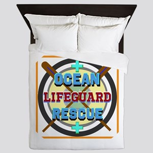 Ocean Rescue Lifeguard Queen Duvet
