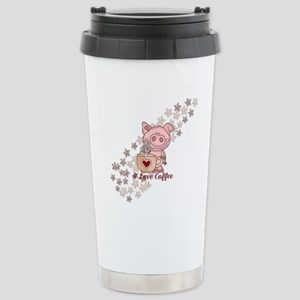 Piglet Loves Coffee Stainless Steel Travel Mug