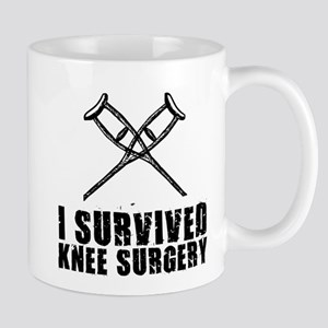 I Survived Knee Surgery Mugs