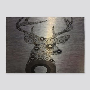 abstract camo pattern deer 5'x7'Area Rug