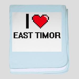 I Love East Timor Digital Design baby blanket