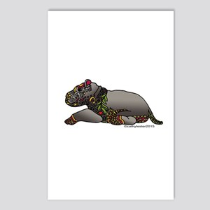 Zentangle Baby Hippo Postcards (Package of 8)