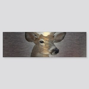 grunge texture western deer Bumper Sticker