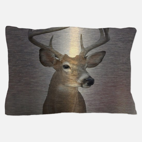 grunge texture western deer Pillow Case