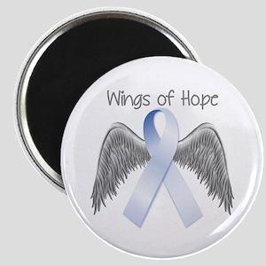 Light Blue Wings Of Hope Magnet