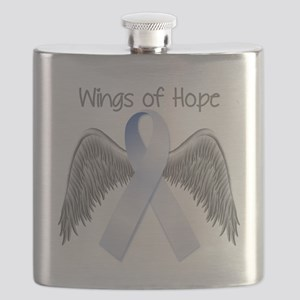 Light Blue Wings Of Hope Flask