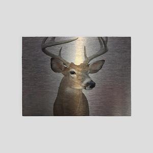 grunge texture western deer 5'x7'Area Rug