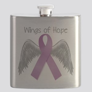 Wings of Hope in Purple Flask