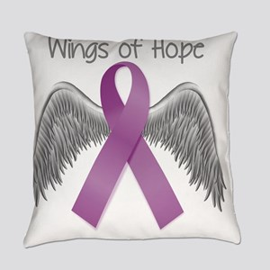 Wings of Hope in Purple Everyday Pillow