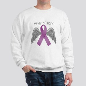 Wings of Hope in Purple Sweatshirt