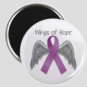 Wings of Hope in Purple Magnet