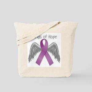 Wings of Hope in Purple Tote Bag