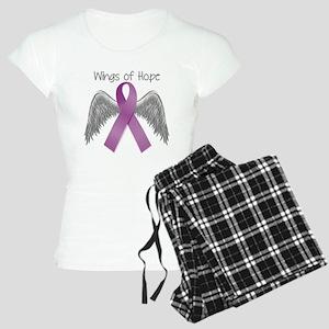 Wings of Hope in Purple Women's Light Pajamas