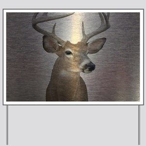 grunge texture western deer Yard Sign