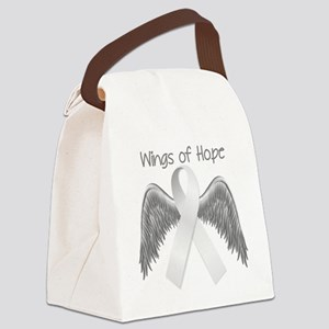 Wings of Hope Silver Canvas Lunch Bag