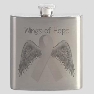 Wings of Hope Silver Flask