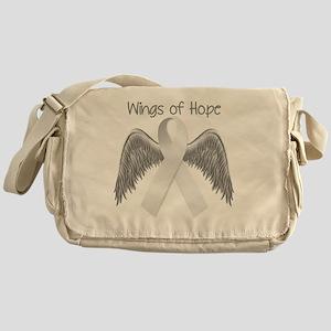 Wings of Hope Silver Messenger Bag