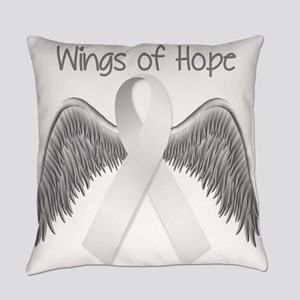 Wings of Hope Silver Everyday Pillow