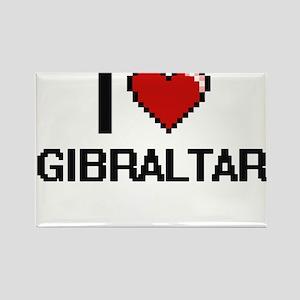 I Love Gibraltar Digital Design Magnets