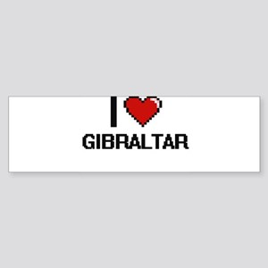 I Love Gibraltar Digital Design Bumper Sticker