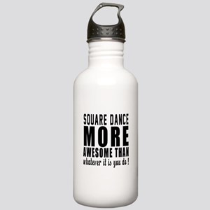 Square dance more awes Stainless Water Bottle 1.0L