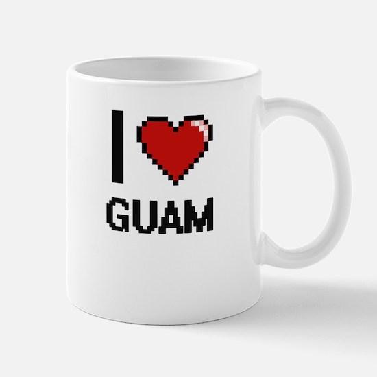 I Love Guam Digital Design Mugs