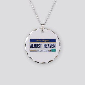 West Virginia - Almost Heave Necklace Circle Charm