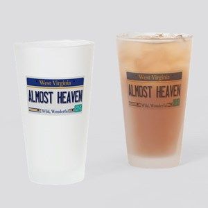 West Virginia - Almost Heaven Drinking Glass