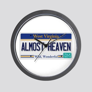 West Virginia - Almost Heaven Wall Clock