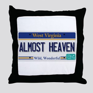West Virginia - Almost Heaven Throw Pillow
