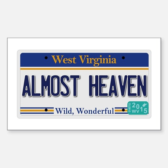 West Virginia - Almost Heaven Sticker (Rectangle)