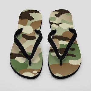 Woodland Camouflage Pattern Flip Flops