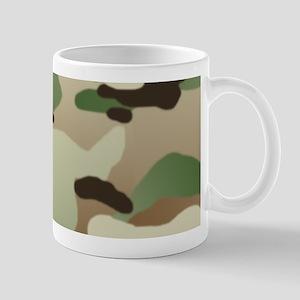 Woodland Camouflage Pattern 11 oz Ceramic Mug