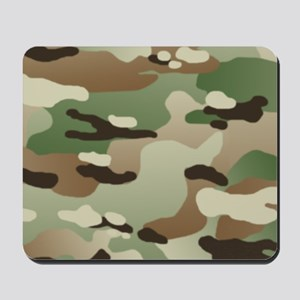 Woodland Camouflage Pattern Mousepad