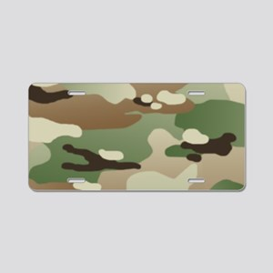 Woodland Camouflage Pattern Aluminum License Plate