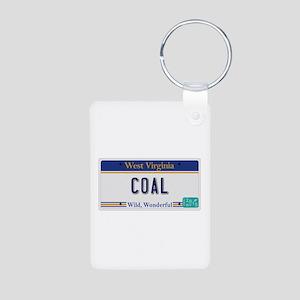 West Virginia - Coal Aluminum Photo Keychain