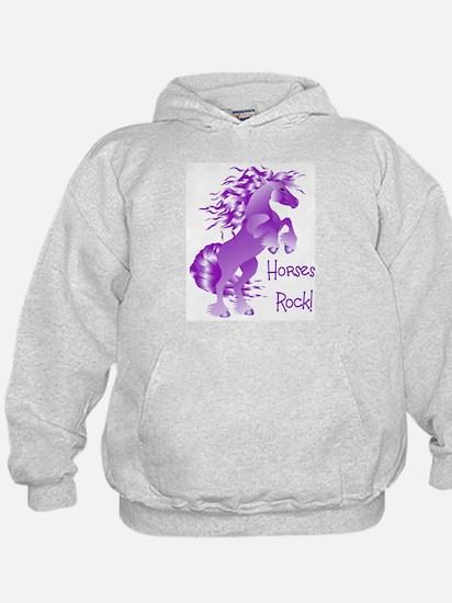 Horses Rock- Purple (Front) Hoody