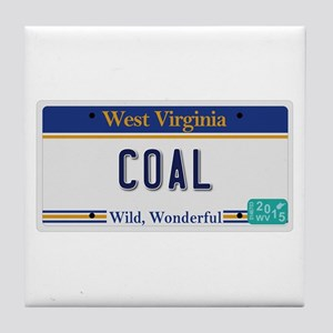 West Virginia - Coal Tile Coaster
