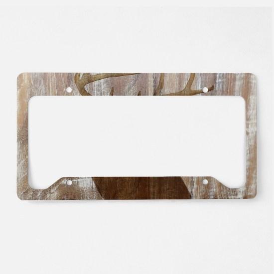 rustic western country deer License Plate Holder