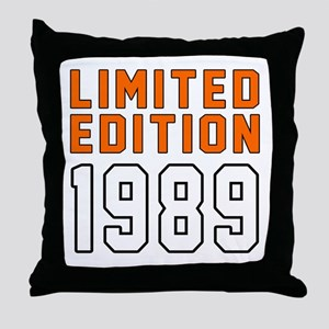 Limited Edition 1989 Throw Pillow