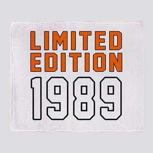 Limited Edition 1989 Throw Blanket