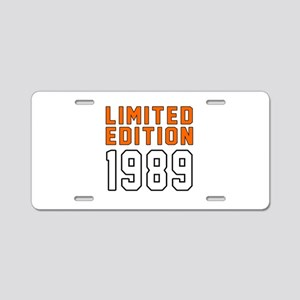 Limited Edition 1989 Aluminum License Plate