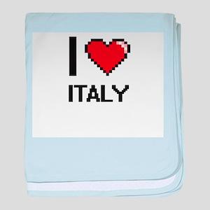 I Love Italy Digital Design baby blanket